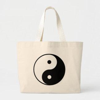 Regalo de Yin Yang Bolsa Tela Grande