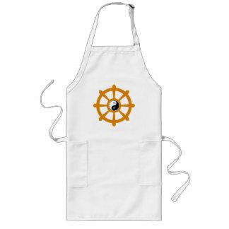 Regalo de Yin Yang de la rueda de Dharma Delantal
