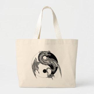 Regalo de Yin Yang del dragón Bolsa Tela Grande