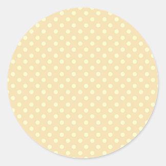 Regalo de Zazzle del fondo del lunar del melocotón Pegatinas Redondas