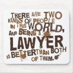 Regalo del abogado tapete de ratón
