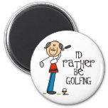 Regalo del abuelo del golf iman para frigorífico