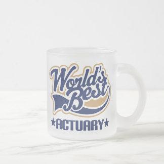 Regalo del actuario taza de café esmerilada