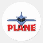 Regalo del aeroplano para los niños etiquetas