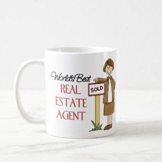 Regalo del agente inmobiliario taza