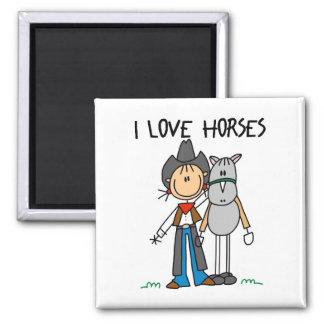 Regalo del amante del caballo imán para frigorífico