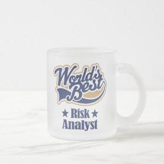 Regalo del analista del riesgo taza de cristal