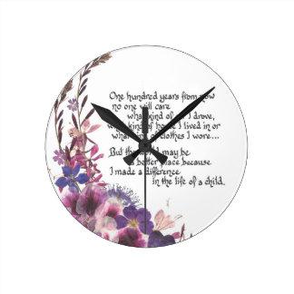 Regalo del aprecio del profesor reloj