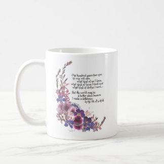 Regalo del aprecio del profesor taza de café