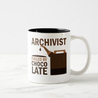 Regalo del archivista (divertido) taza de dos tonos