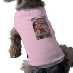 regalo del art déco de los lillies del mucha camisas de mascota