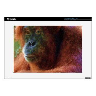 Regalo del arte de la fauna del retrato del calcomanía para portátil