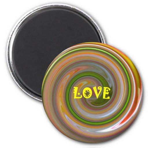 Regalo del arte de Magnet_Romantic del amor Iman De Nevera