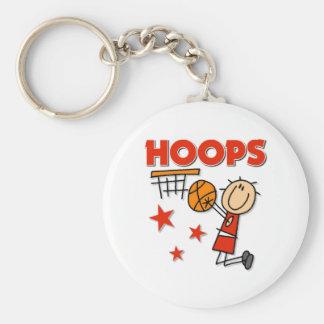 Regalo del baloncesto de los aros llavero redondo tipo pin