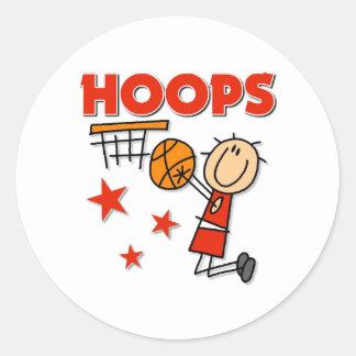 Regalo del baloncesto de los aros etiqueta