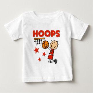 Regalo del baloncesto de los aros playera de bebé