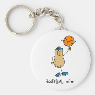 Regalo del baloncesto llavero redondo tipo pin