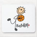 Regalo del baloncesto tapetes de ratón