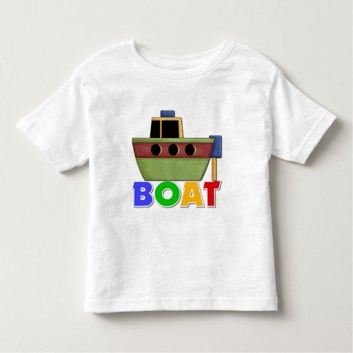 Regalo del barco para los niños playeras
