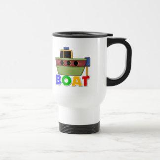 Regalo del barco para los niños taza de café