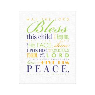 Regalo del bautismo - impreso ya en la lona 11x14 impresión en lona estirada