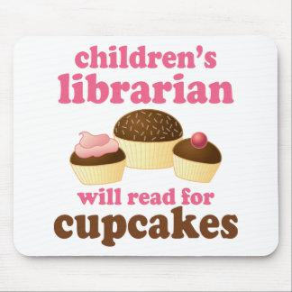 Regalo del bibliotecario de niños del amante de la mouse pads