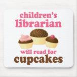 Regalo del bibliotecario de niños del amante de la tapetes de ratón