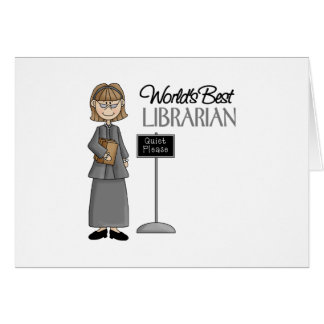 Regalo del bibliotecario tarjeta de felicitación
