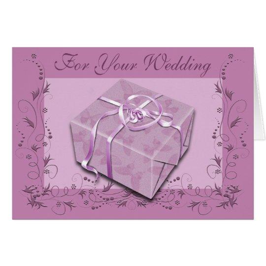 Regalo del boda de la alegría tarjeta de felicitación
