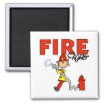 Regalo del bombero imanes para frigoríficos