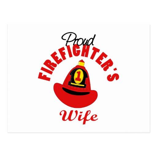 Regalo del bombero tarjetas postales