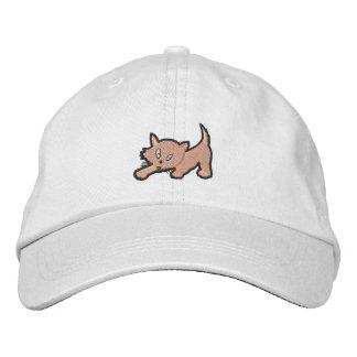 Regalo del bordado del gatito gorra de beisbol bordada