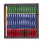 REGALO del botón del verde del rojo azul de Cajas De Joyas De Calidad