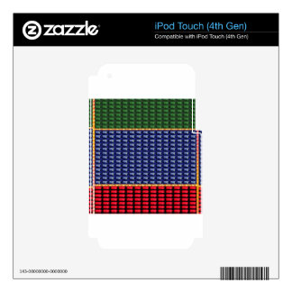 REGALO del botón del verde del rojo azul de iPod Touch 4G Calcomanía