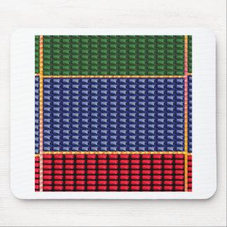 REGALO del botón del verde del rojo azul de Tapete De Ratones