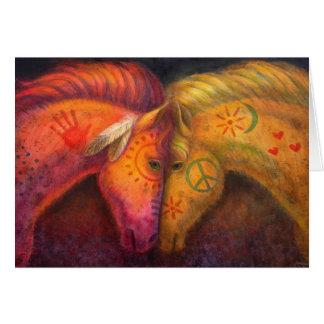Regalo del caballo, caballos de la paz de la tarjeta de felicitación