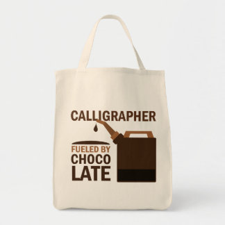 Regalo del calígrafo (divertido) bolsa tela para la compra