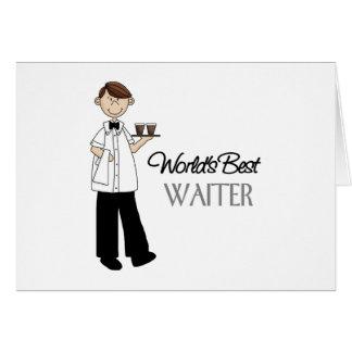 Regalo del camarero tarjeta de felicitación