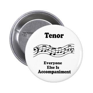 Regalo del cantante del tenor pin redondo 5 cm