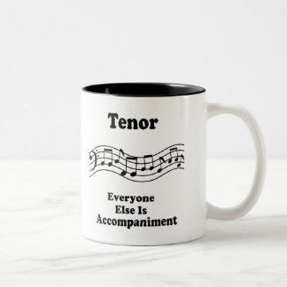 Regalo del cantante del tenor taza de dos tonos