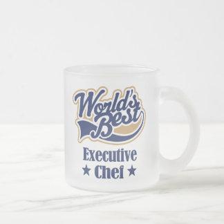 Regalo del chef ejecutivo taza de cristal