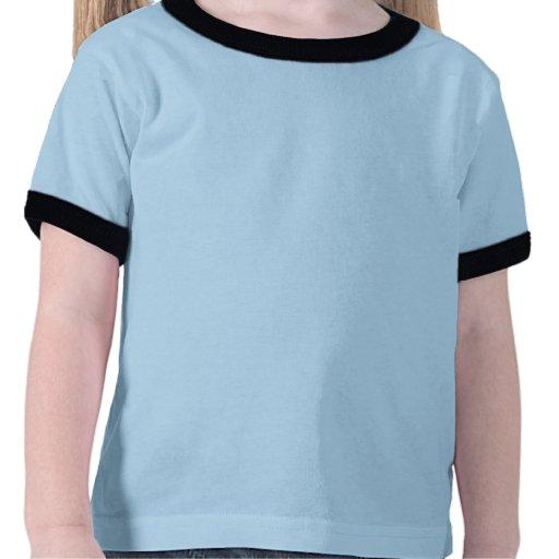 regalo del chica del cumpleaños de 4 años (cerdo l camiseta