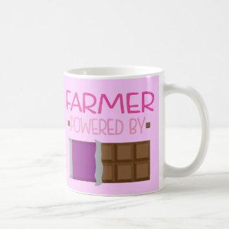 Regalo del chocolate del granjero para ella taza de café