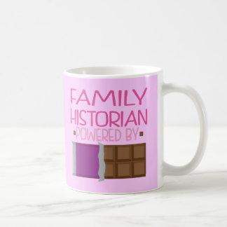 Regalo del chocolate del historiador de la familia tazas de café