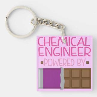 Regalo del chocolate del ingeniero químico para la llavero cuadrado acrílico a doble cara
