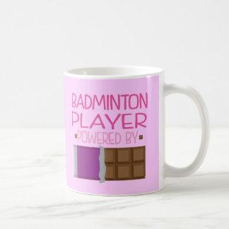 Regalo del chocolate del jugador del bádminton tazas