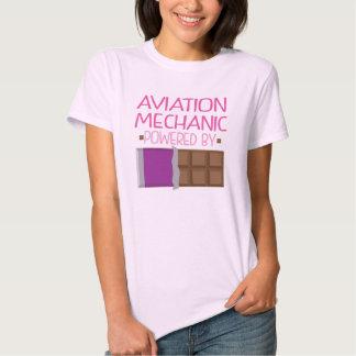 Regalo del chocolate del mecánico de la aviación camisas