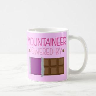 Regalo del chocolate del montañés para ella taza básica blanca