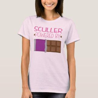 Regalo del chocolate del Sculler para ella Playera