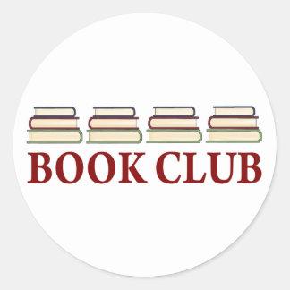 Regalo del círculo de lectores para los lectores pegatina redonda